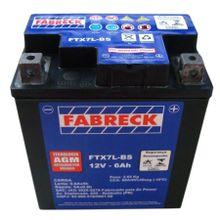 Bateria Fabreck YTX7 Cbx250 Twister Cb300 Nx4 Falcon Hornet 05/07, Titan150 ESD, Fazer250, Xtz250, Lander, Speed150, Stx200, Xr250 Tornado Tenere250
